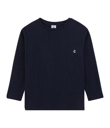 Tee shirt manches longues enfant garçon bleu Smoking