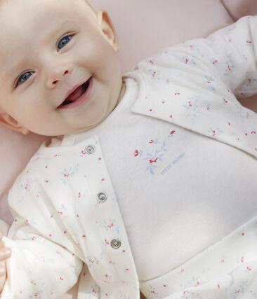 Ensemble 3 pièces bébé mixte en tubique blanc Marshmallow / blanc Multico
