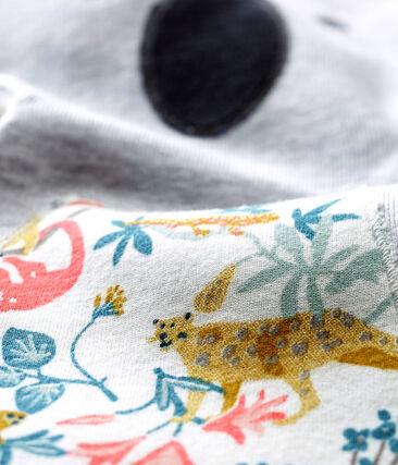 Doudou bébé mixte gris Poussiere / blanc Multico