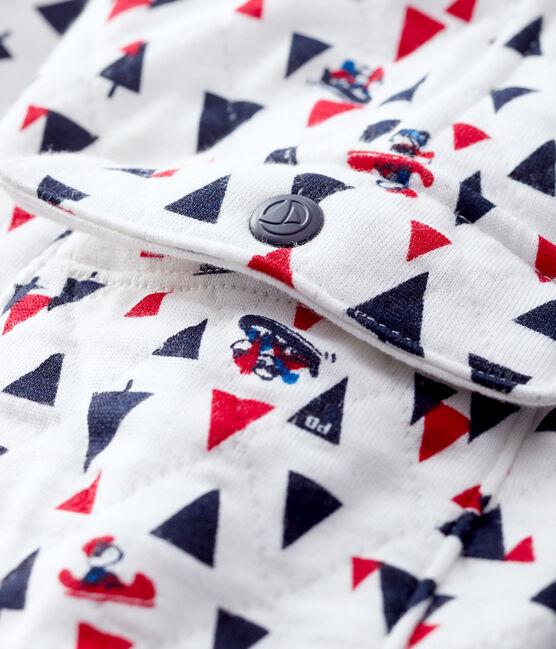 Pantalon bébé garçon en tubique blanc Marshmallow / blanc Multico
