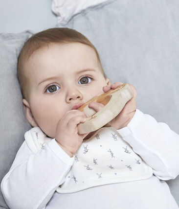 Bavoir naissance blanc Lait / blanc Multico