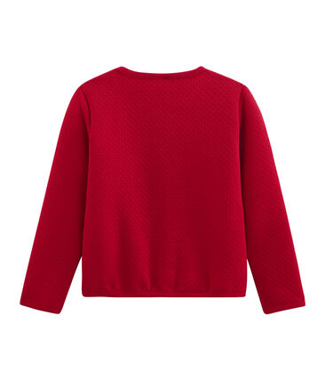 Cardigan enfant fille rouge Terkuit