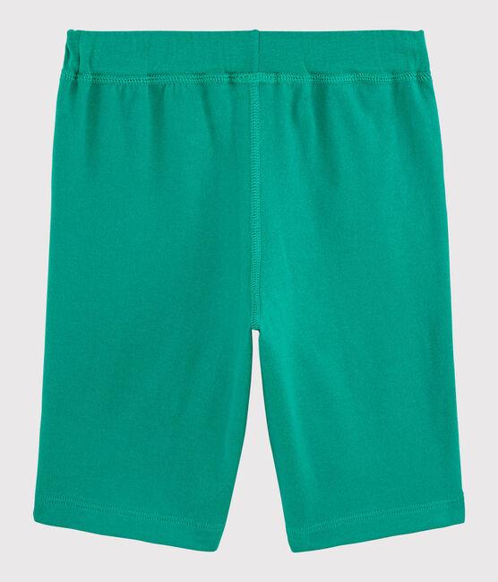 Bermuda en jersey enfant garçon vert Gazon