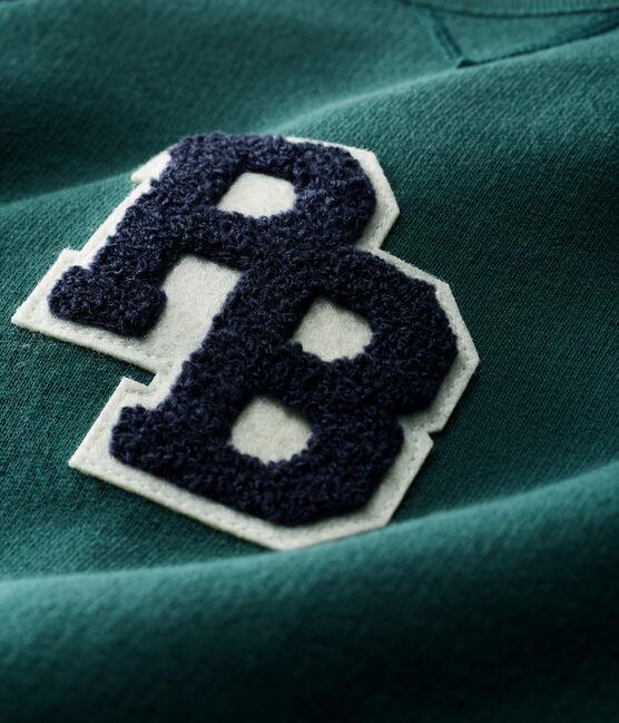 Combinaison longue bébé garçon en molleton vert Sousbois / bleu Smoking