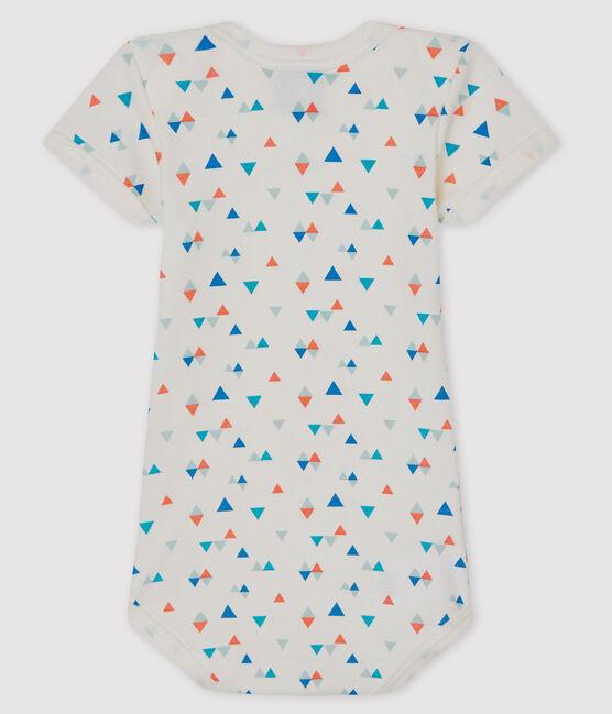 Body manches courtes bébé garçon-fille blanc Marshmallow / blanc Multico