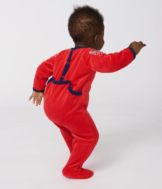 Dors-bien bébé en velours rouge Froufrou