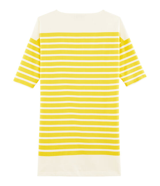 Robe femme jaune Shine / blanc Marshmallow