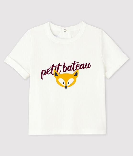 Tee-shirt bébé garçon blanc Marshmallow
