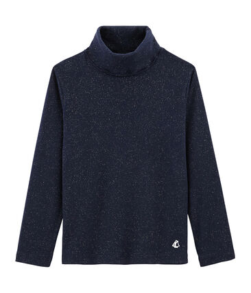 Sous pull enfant fille bleu Smoking / jaune Or