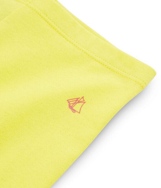 Cycliste enfant fille jaune Eblouis / jaune Or