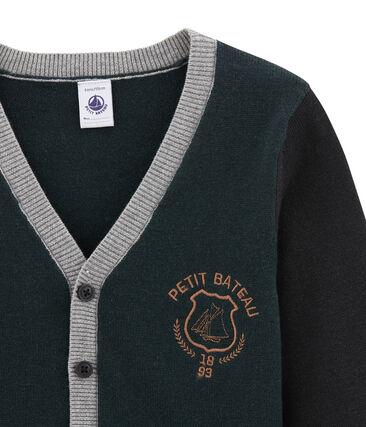 Cardigan enfant garçon en laine mélangée