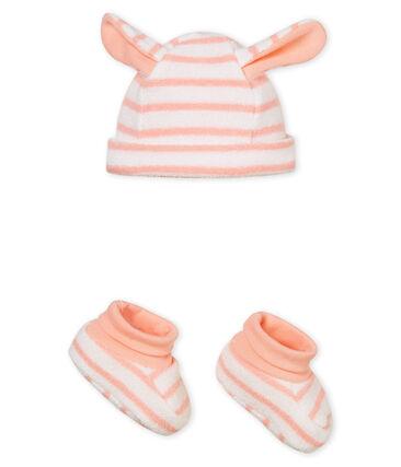 acheter en ligne 5955f ba320 Bonnet et chaussons bébé mixte rayés