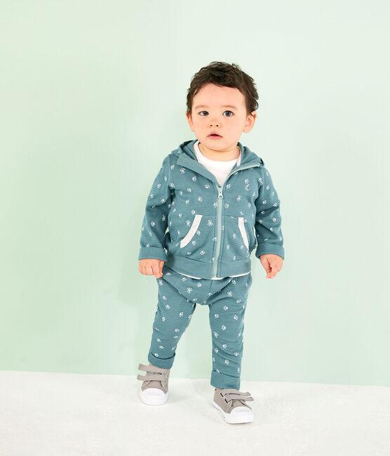 Sweatshirt à capuche imprimé bébé bleu Brut / blanc Marshmallow