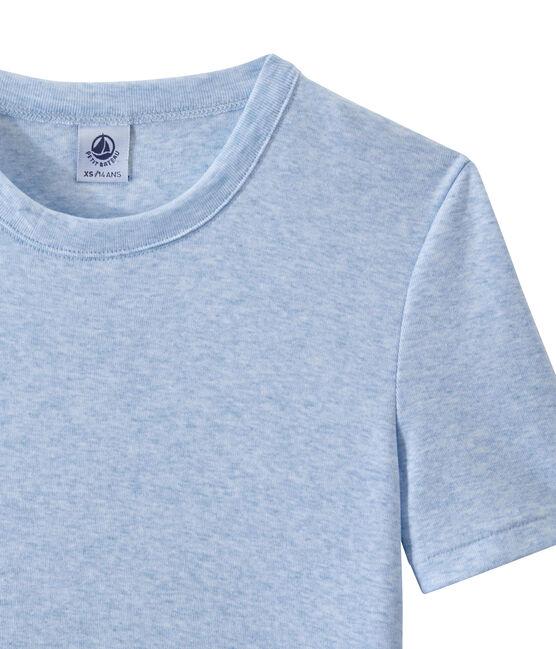 T-shirt femme en côte originale bleu Cumulus Chine