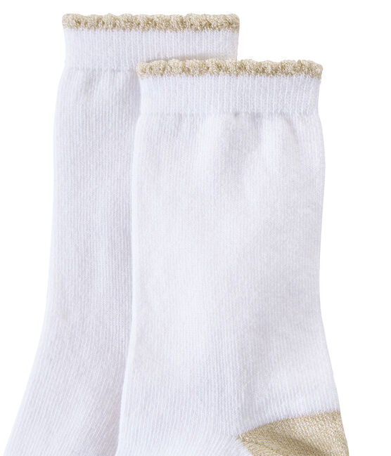 Chaussettes fille unies blanc Marshmallow