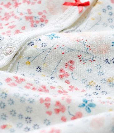 Dors bien bébé fille en tubique blanc Marshmallow / blanc Multico