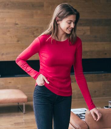 Tee shirt manches longues iconique femme rouge Terkuit