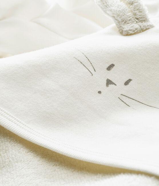 Coffret carré de bain et chaussons bébé mixte blanc Marshmallow