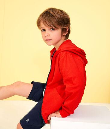 Sweat shirt enfant garçon rouge Peps