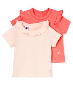 Lot de 2 tee-shirts manches courtes bébé fille
