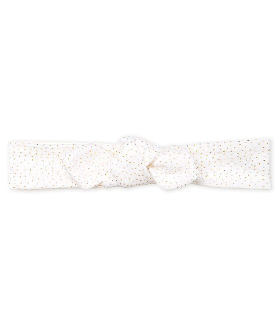 Bandeau enfant fille blanc Marshmallow / rose Copper