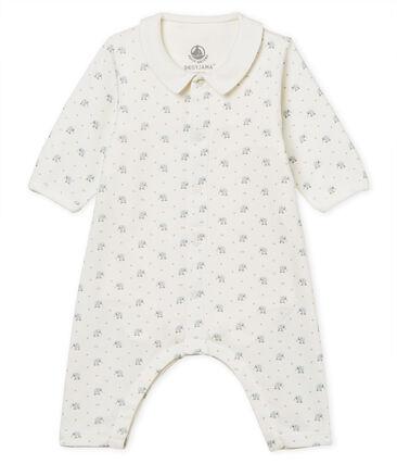 Bodyjama sans pieds bébé garçon en côte 1x1 imprimée