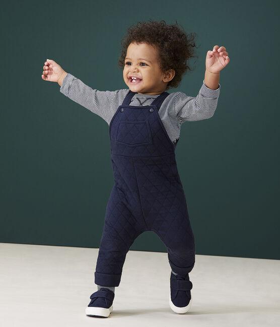 Salopette longue bébé garçon bleu Smoking