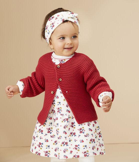 Cardigan laine et coton bébé fille POPPY