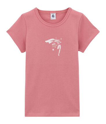 tee-shirt manches courtes petite fille rose Cheek