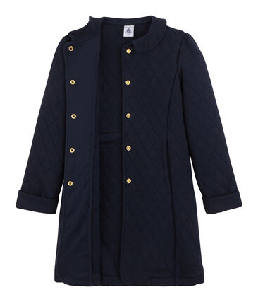 Manteau en tubique enfant fille bleu Smoking