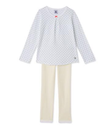 Pyjama fille imprimé et rayé