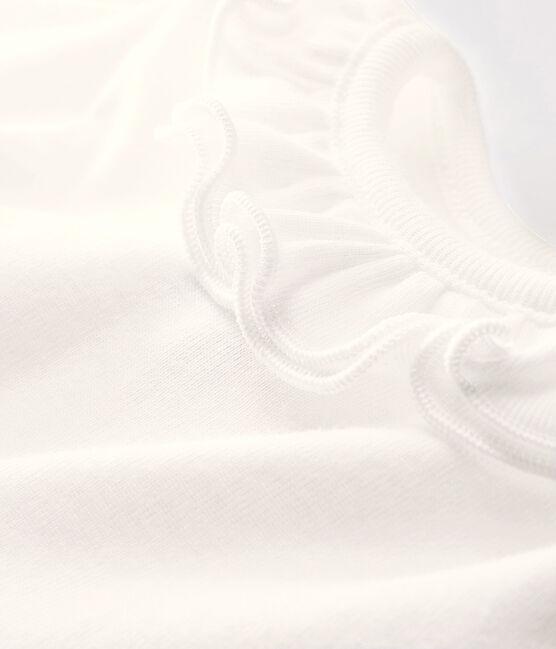 Body manches longues bébé fille blanc Marshmallow