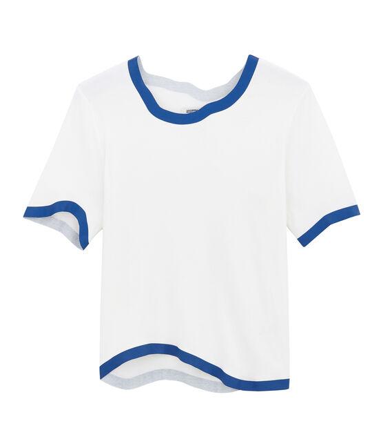 Tee-shirt sérigraphié pour femme blanc Marshmallow