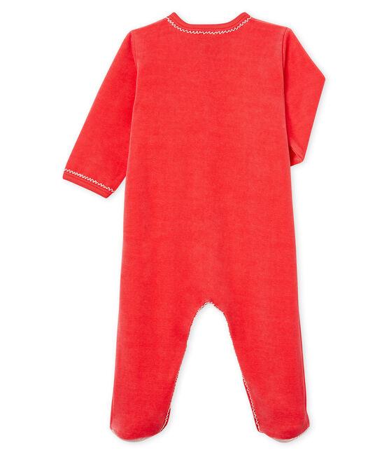 Dors bien bébé fille en velours rouge Signal