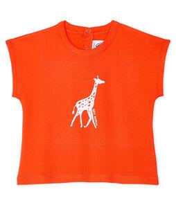 Tee-shirt manches courtes bébé garçon orange Spicy