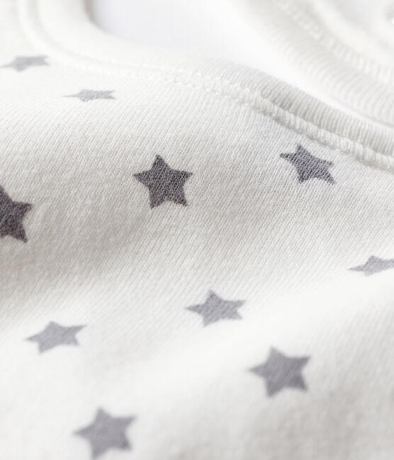 Bavoir naissance blanc Marshmallow / blanc Multico