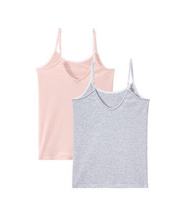 Duo de chemises à bretelles fille