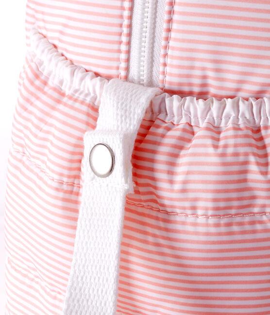 Sac à langer en polyester matelassé. rose Rosako / blanc Marshmallow