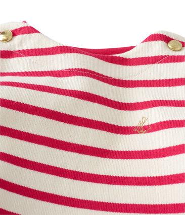 df03e3d9ed837 Robe marinière bébé fille en jersey lourd