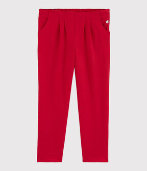 Pantalon en jersey enfant fille rouge Terkuit