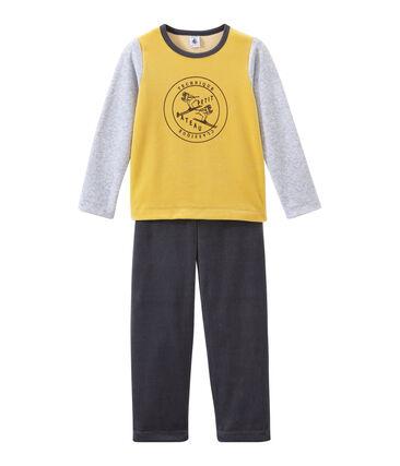 Pyjama petit garçon gris Maki / blanc Multico