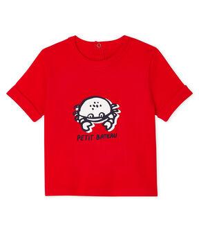 Tee-shirt manches courtes bébé garçon rouge Peps