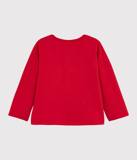 Cardigan bébé fille en molleton rouge Terkuit