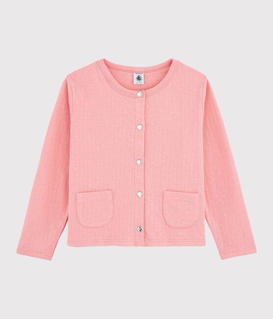Cardigan en tubique enfant fille rose Gretel