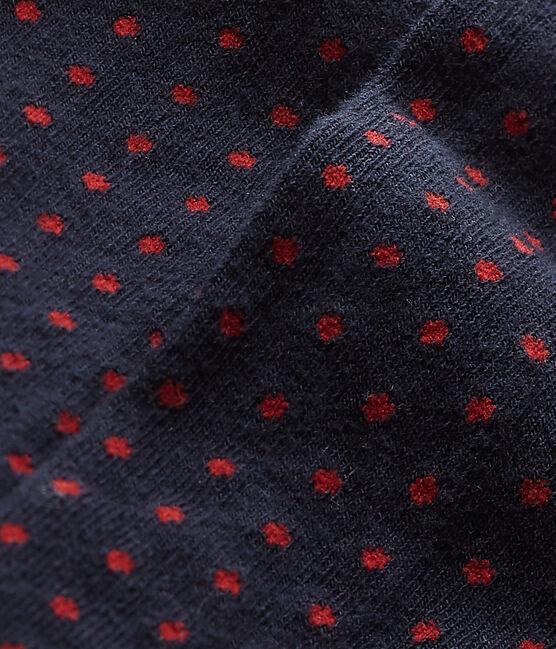 Collant fille à pois bleu Smoking / rouge Froufrou