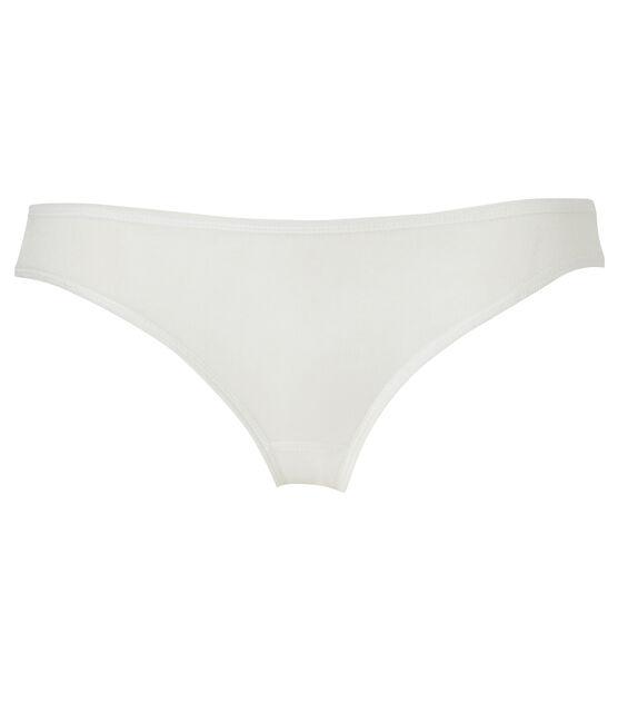 Culotte femme en coton léger blanc Lait