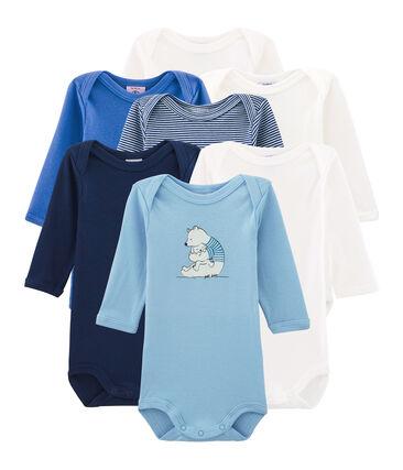 Pochette surprise de 7 bodies manches longues bébé garçon lot .