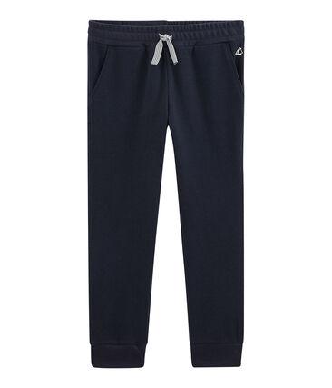 Pantalon maille enfant garcon bleu Smoking