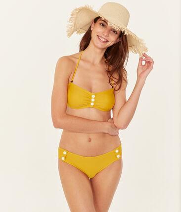Maillot de bain 2 pièces femme jaune Bamboo