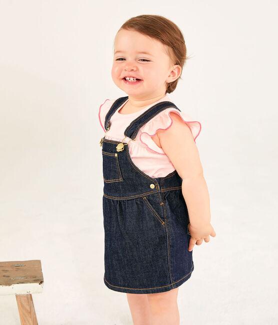 Robe salopette bébé fille en jean JEAN
